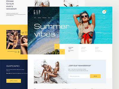GAP – homepage shop fashion concept landing page website web design ux ui