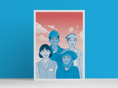 Illustration for the International Labour Organization