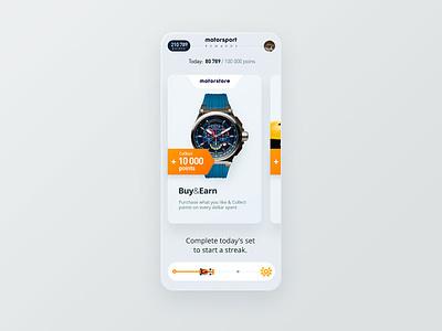 Rewards design widgets points rewards uiux