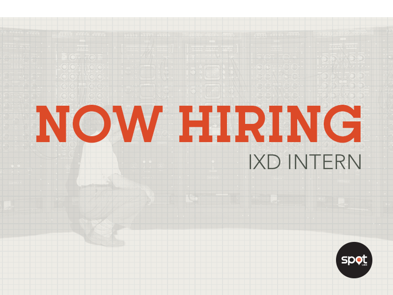 Now Hiring spot labs ixd interaction vintage kettering typeface