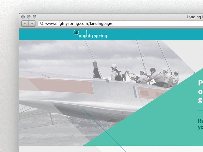 On boarding start page mighty spring on boarding start hook geometric sailing