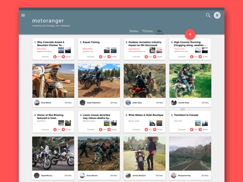 motoranger aggregator motorcycle google materialdesign