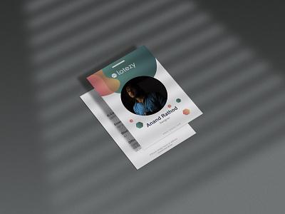 ID Card Design vector identity design lotezy id illustraion id card design id card