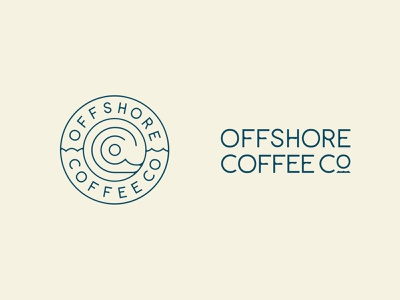 Offshore Coffee Co Rebrand wordmark coffee hand lettering typography pattern lettering icon logo rebranding rebrand