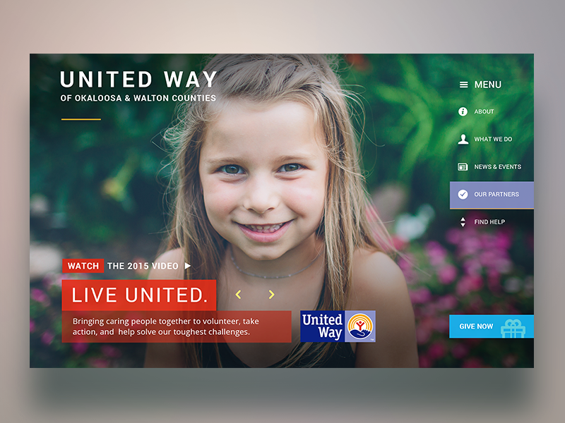 United Way app ux design website way united uwoka