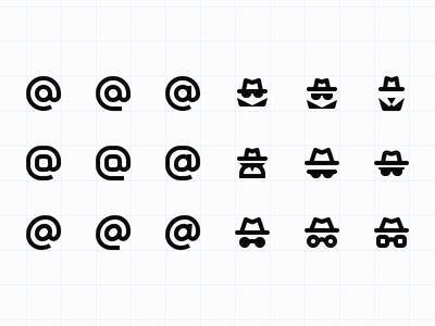 Icon iteration iconography at hidden user icons secret incognito @ icon
