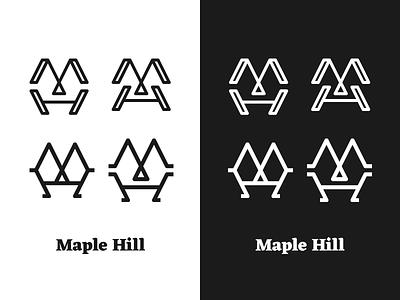 Maple Hill monogram mh monogram logomark logo