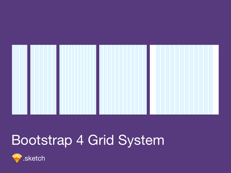 Bootstrap 4 Grid template sketch grid system grid bootstrap 4
