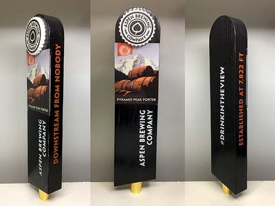 Aspen Brewing Company Tap brewery aspen tap handle beer