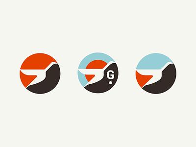 Gander affinity designer icon goose logo