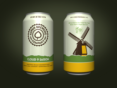 Cloud 9 Saison aspen rendering 3d packaging can beer