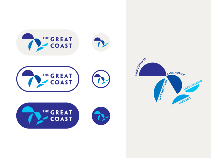 The Great Coast lake logo lockup great lakes