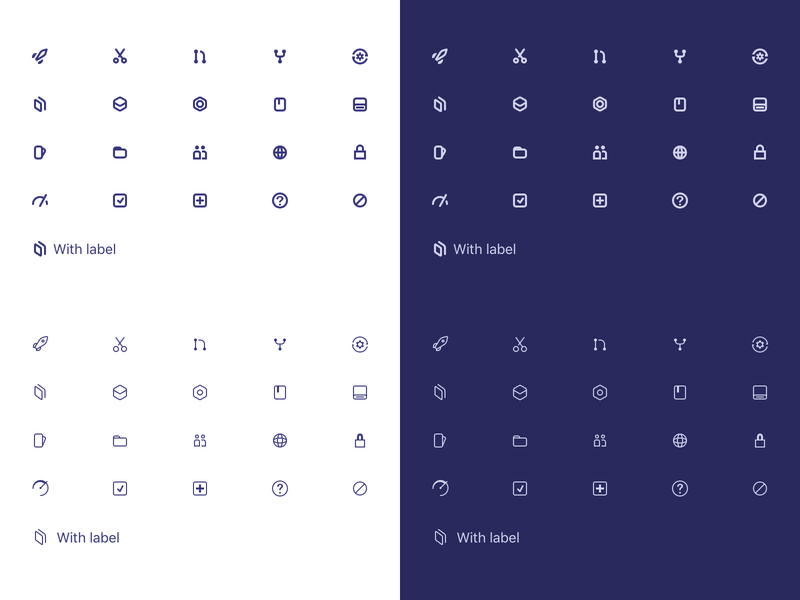 Icon Weight dark ui iconography icon library glyphs glyph icons icon