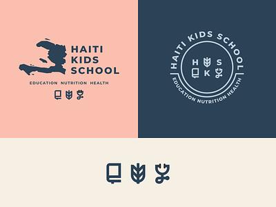 Haiti Kids School icons lockup logo school haiti