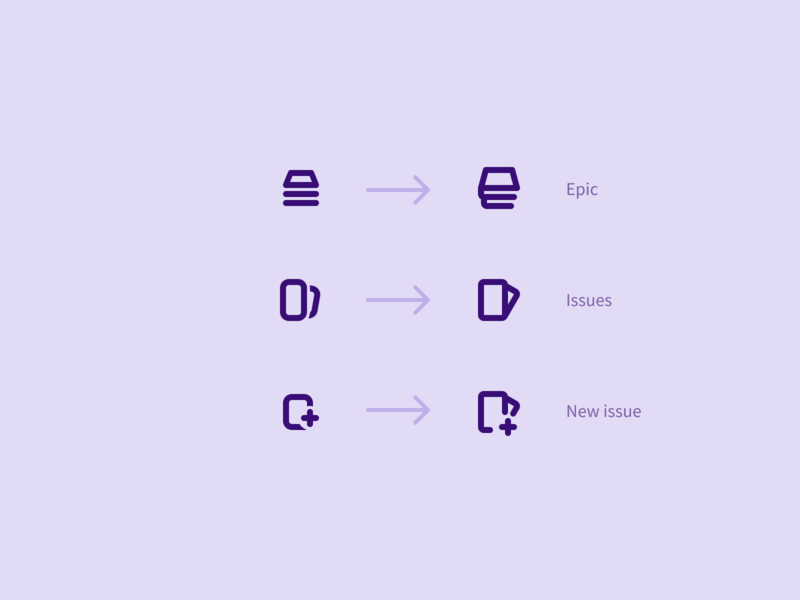 Epic Issues iconography add new gitlab issue epic icons icon