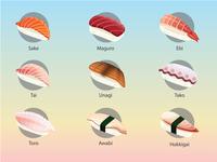 Sashimi Sushi Illustration