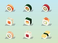 Sushi Roll Illustration 01