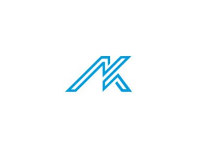 Logo AK flat ilustrations illustrator dribble dribbble brand branding ui design graphic design logo