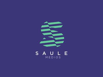 Logo Saule medios lettering logotype monogram branding brand minimalist flat dribbble web ui design graphic design logodesign photoshop illustrator logo