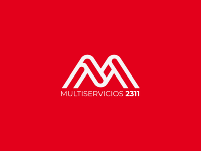 Logo multiservicios flyer red dribbble photoshop ilustrator branding brand flat graphicdesign graphic design logodesign logo