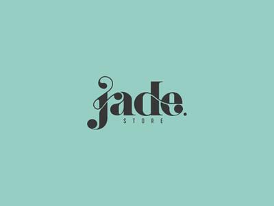 Jade store logo graphicdesign dribbble branding brand illustrator photoshop ui flat monogram graphic design graphic logo
