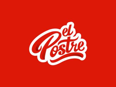 El postre logotipo isologo imagotipo