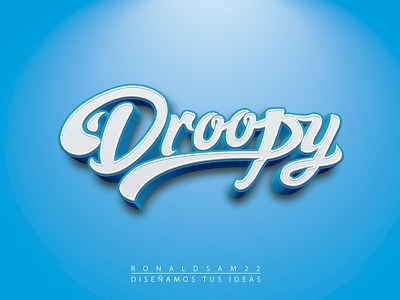 Droopy illustration character typography design graphic logo illustrator