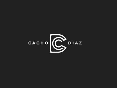 cacho diaz marca gráfico vector tipografía diseño ilustrador logo