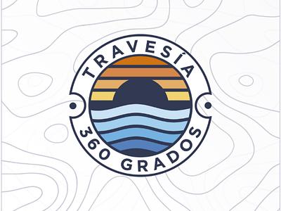 Travesía 360 monogram photoshop logotype design branding illustrator logodesign instagram logo dribble behance dribbble