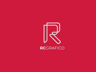 rcgrafico logo ui behance dribbble vector adobeillustrator monogram design typography illustrator