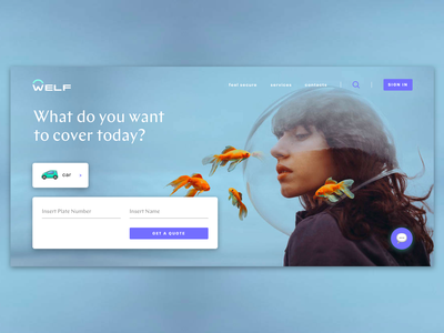 Insurance Homepage insurtech insurance company quote get a quote violet blue cover landing homepagedesign homepage banking insurance
