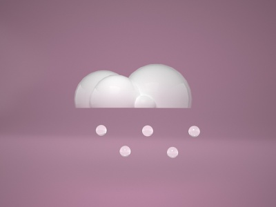 Weather 3D Icon cloud weather snow pink cinema4d 3d icons 3d artist 3d animation 3d art 3d icon icon 3d
