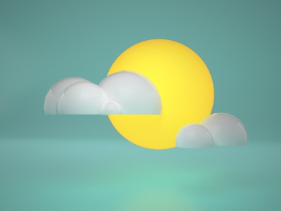 Weather 3D Icon / Cloudy 3d artist 3d animation weather sun cloud cinema4d 3d icon 3d art 3d icons icon cloudy