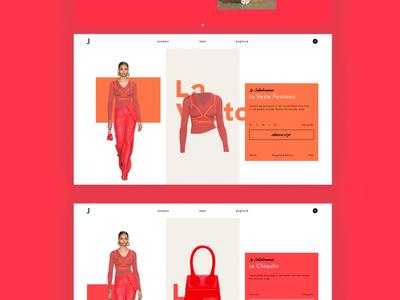 Jaquemus inspired website