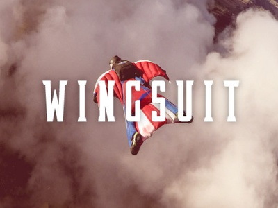 Wingsuit graphic design font typography type sports logo sports font
