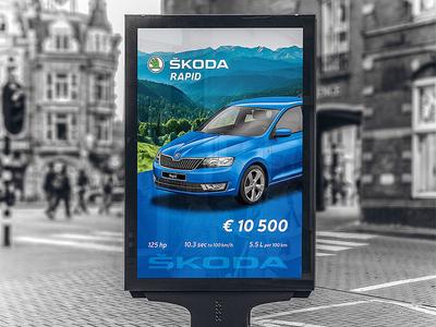 Skoda Rapid outdoor advertising