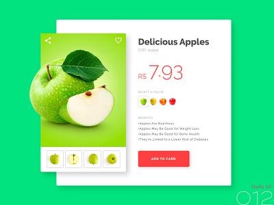 Daily UI  #012 apple product ecommerce 012 dailyui