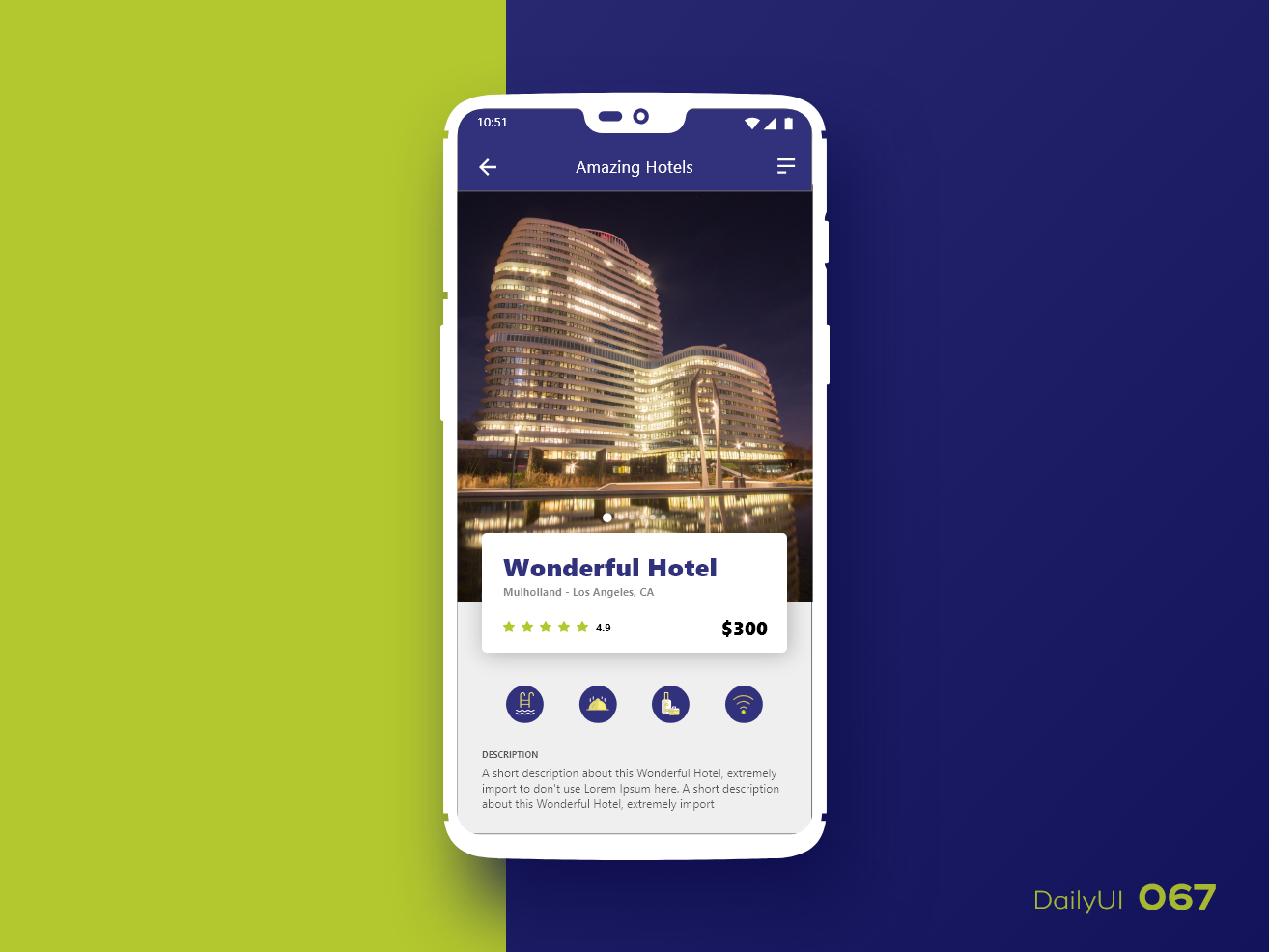 Daily UI #067 hotel booking 067 ui dailyui