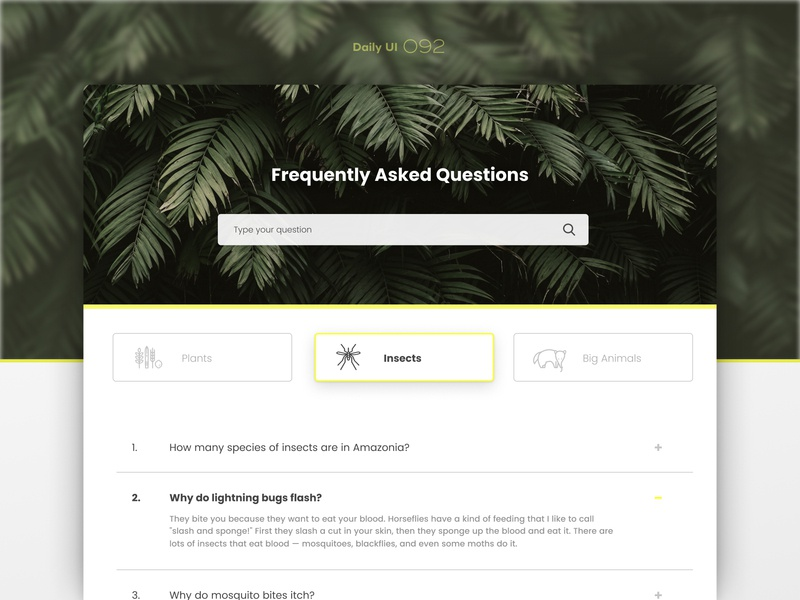 Daily UI #092 figma faq faqs 92 092 ui dailyui