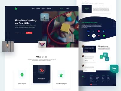 Share Skills and Creativity - Landing Page.