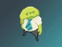 Pixel Art Alien