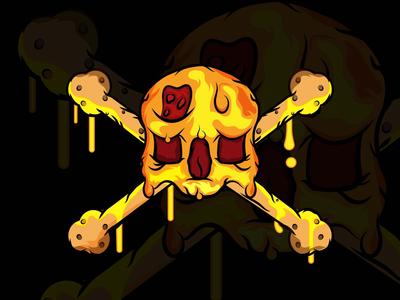 Pizza and BreadStix Crossbones