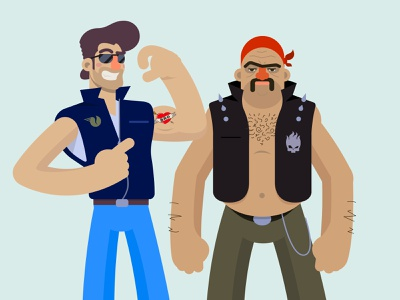 Momma's Boys illustrator cartoon biker gang mothers day illustration character design vector