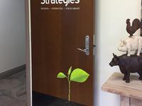 Door Graphic for Versant Strategies