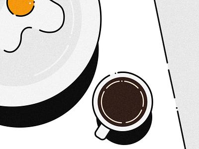 Linear Breakfast daily art creative egg doodle illustration monochrome java breakfast linear lineart