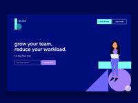 "Building ""Blox"" Digital Team concept"