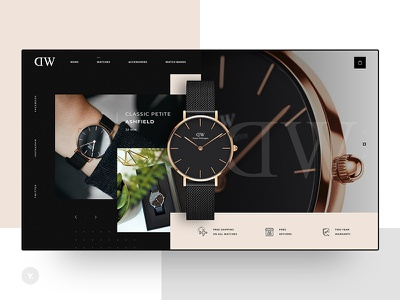 DW - Daniel Wellington web flat icon ux ui design webdesigner webdesign