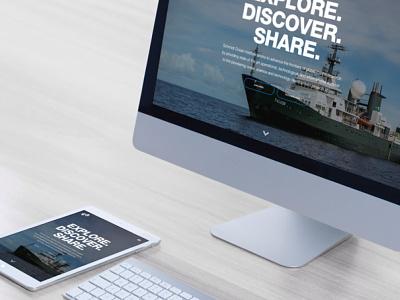 Oceanographic Research web oceans responsive website philanthropy uxdesign website