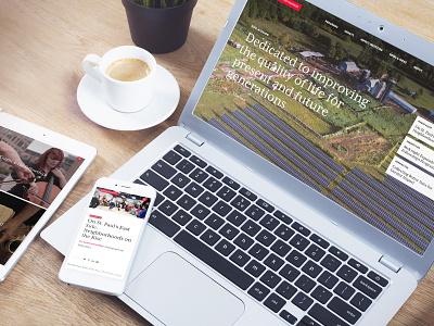 Foundation Website responsive website website design information architecture information design ui ux website