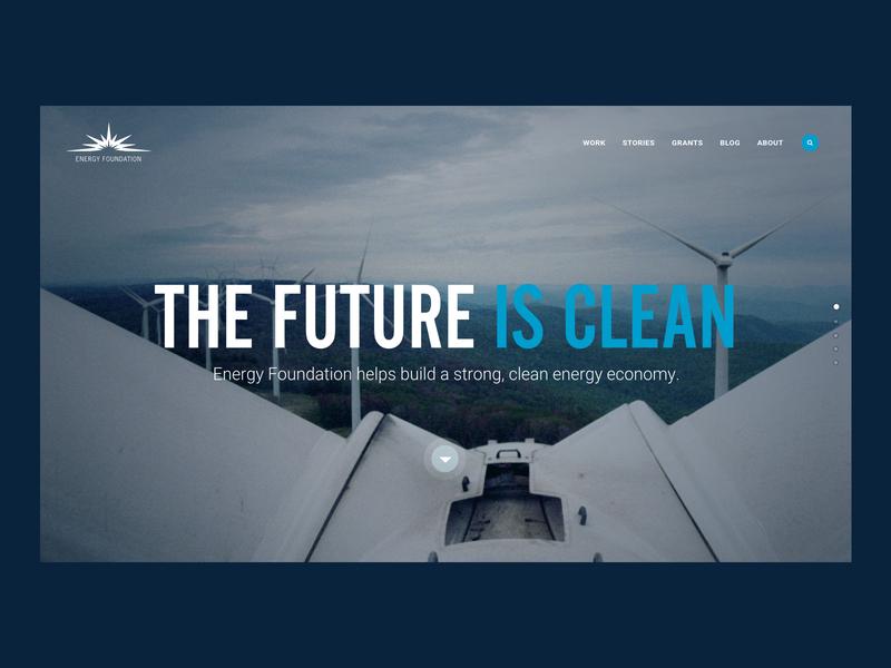 THE FUTURE IS CLEAN ui ux responsive website websites website